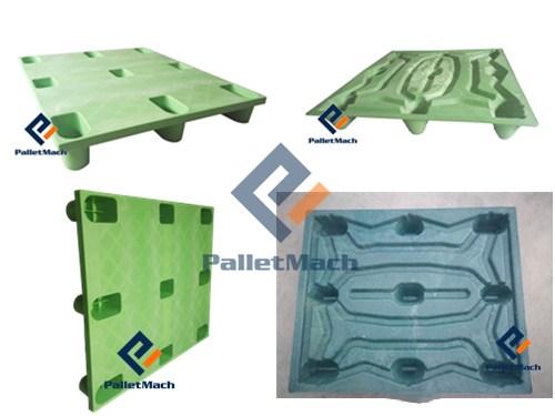 Pressed plastic pallet