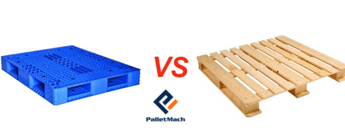 plastic pallet looks more attractive than wood